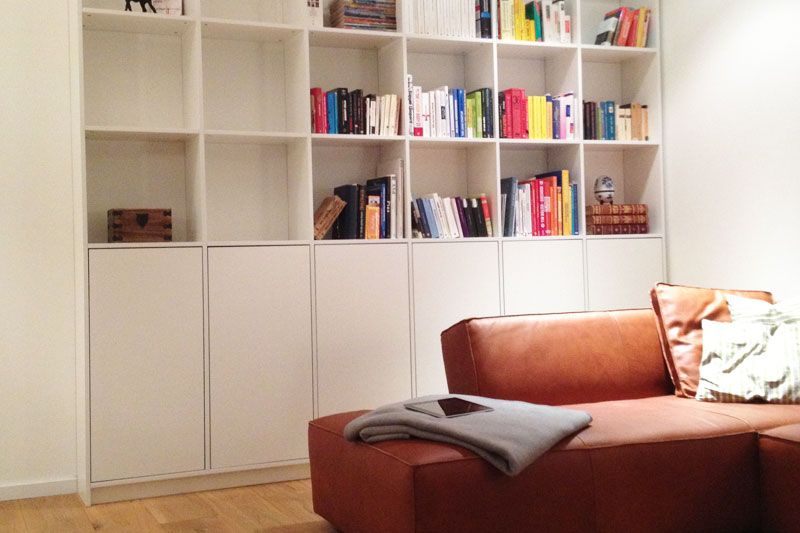b cherregal aus massivholz nach ma g nstig online bei. Black Bedroom Furniture Sets. Home Design Ideas