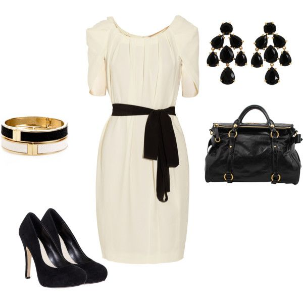 Black White Gold Created By Heather Brielle Olsen On Polyvore