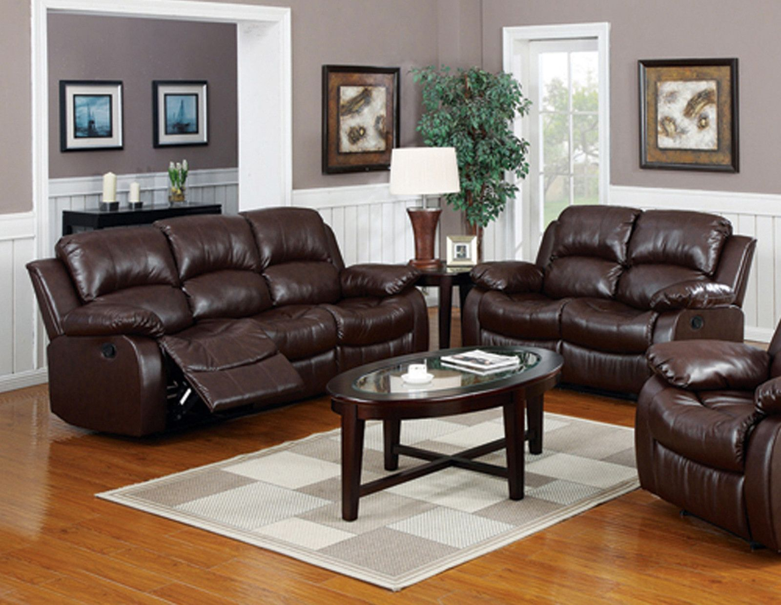Phoenix 2 Piece Bonded Leather Living Room Set