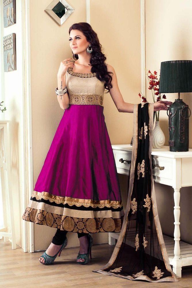 fccce8217 letest new anarkali salwar kameez bollywood wedding dress suit ...