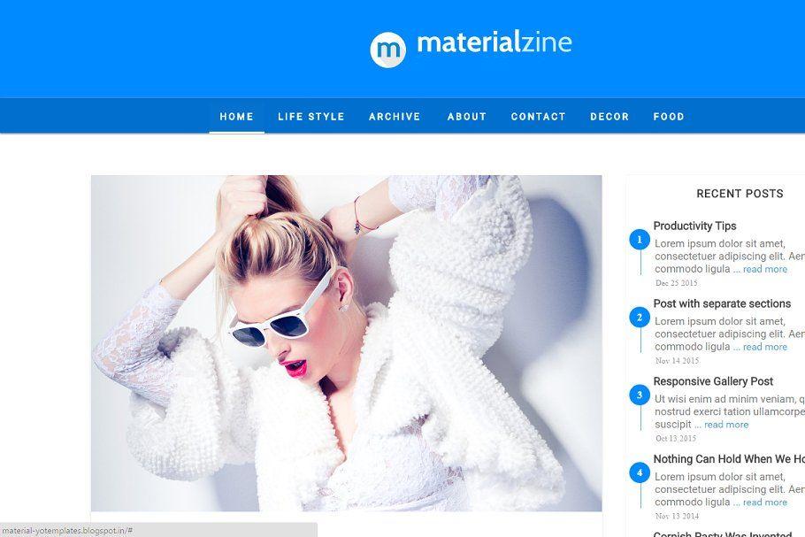 Material Design Blogger Template Blogger Design Blogger Templates Material Design Social media web templates