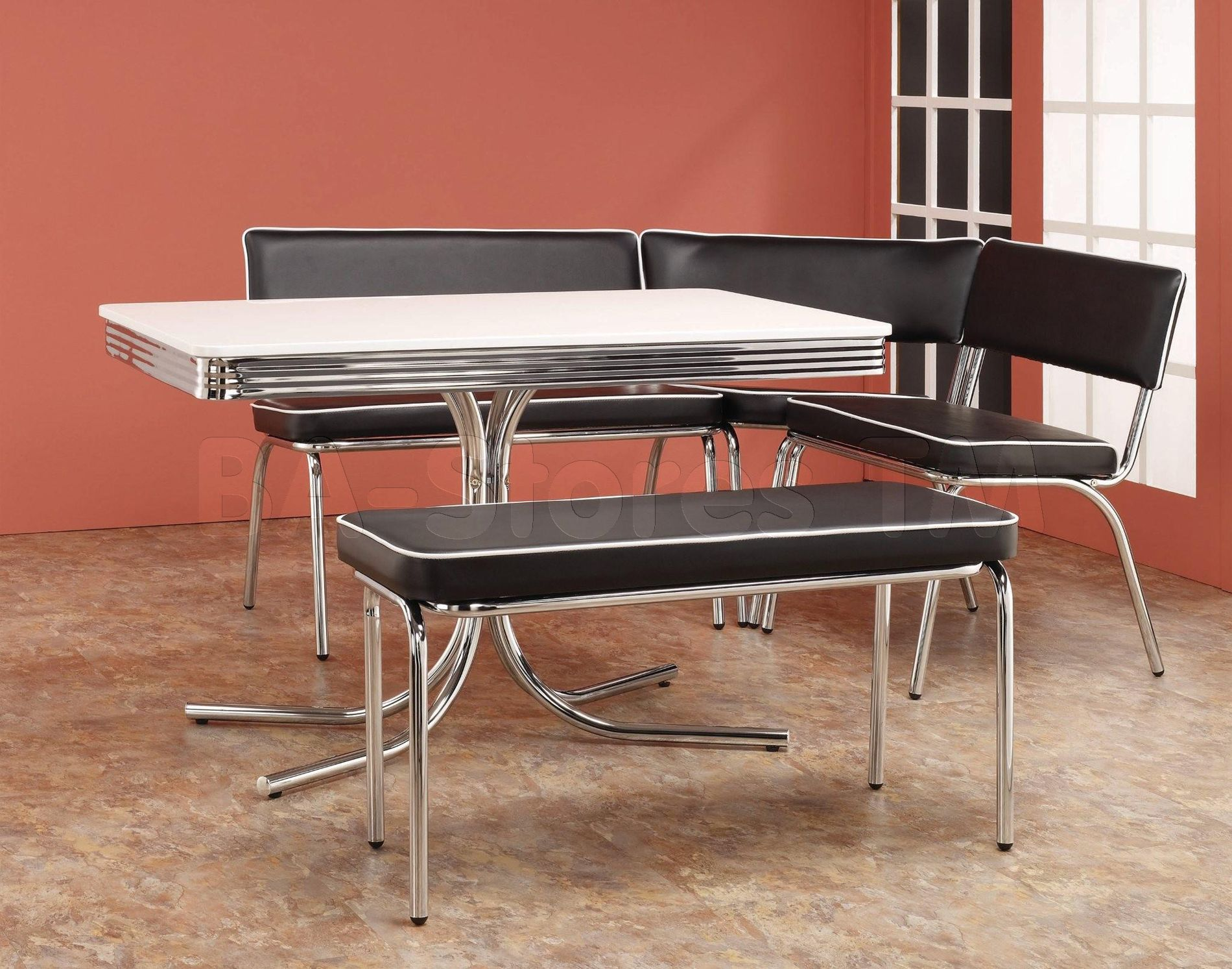 Dining Room Sets For Small Es Retro Set Amazing Chrome Table