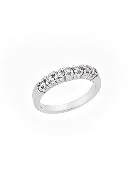Δαχτυλίδι Σειρέ με Διαμάντια από Χρυσό18Κ σε Λευκό Χρώμα Αναφορά 016881  Σειρέ δαχτυλίδι κατασκευασμένο από χρυσό 91ee4fab141