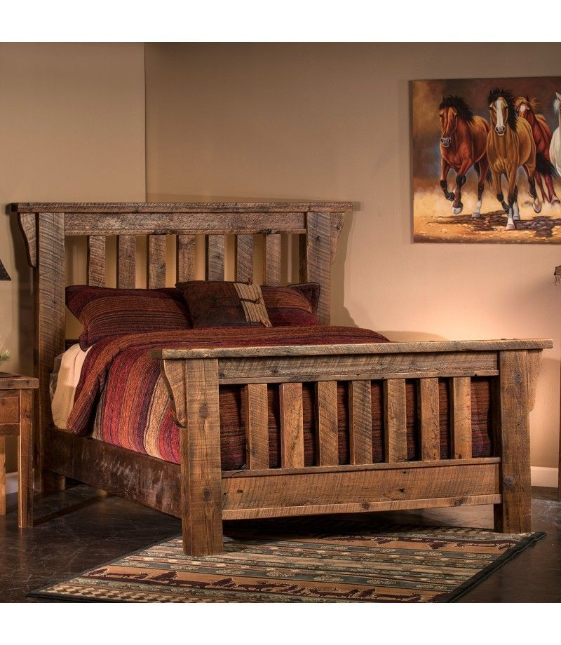 Rocky Creek Reclaimed Barn Wood Bed Barn Bed