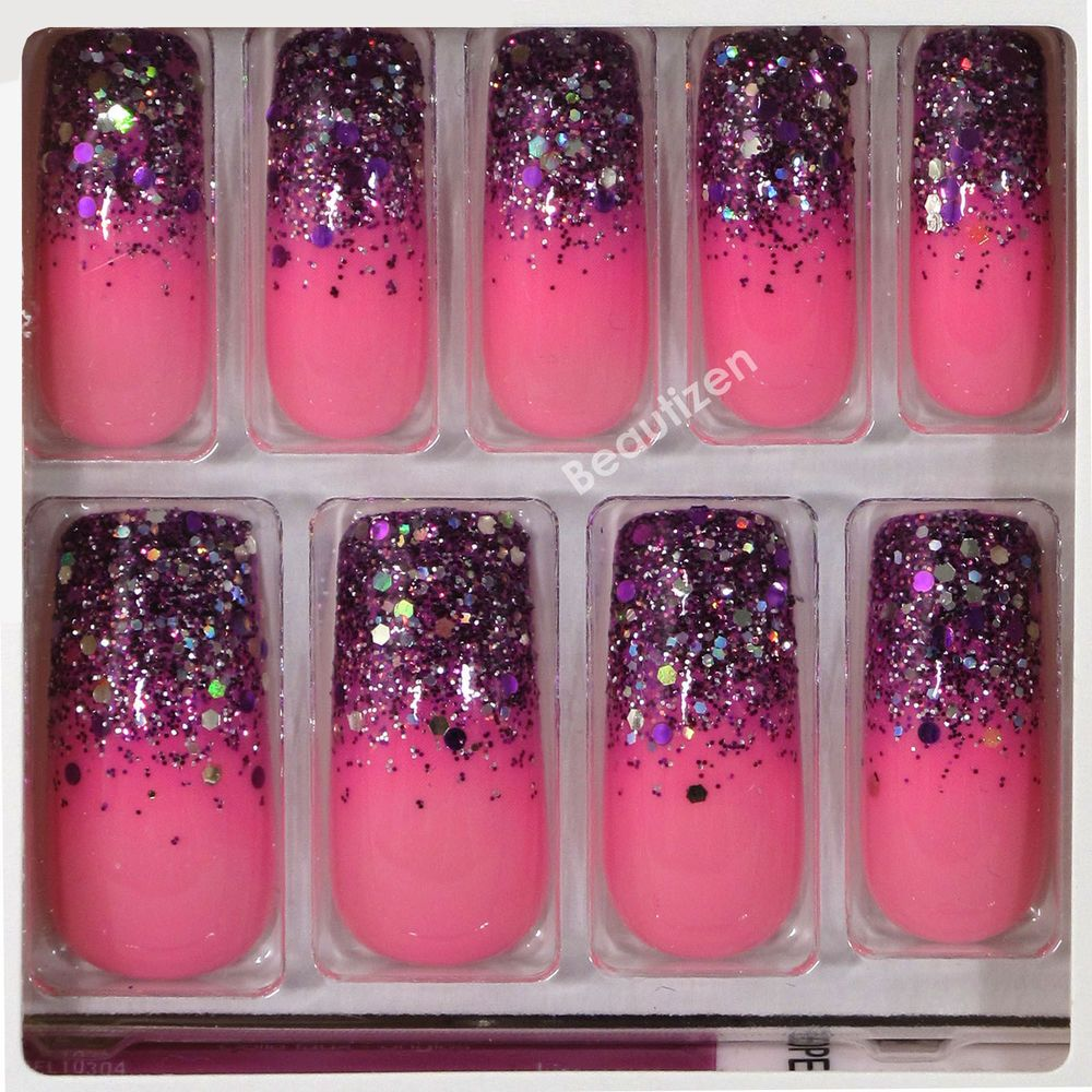 KISS GEL FANTASY Glue-on 24 Nails Kit Medium KGN55 | Pinterest ...