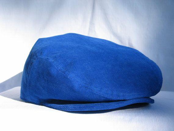 17ba1be1c5899 Royal Blue Soft Corduroy Flat Cap Royal Blue by dolldressedup