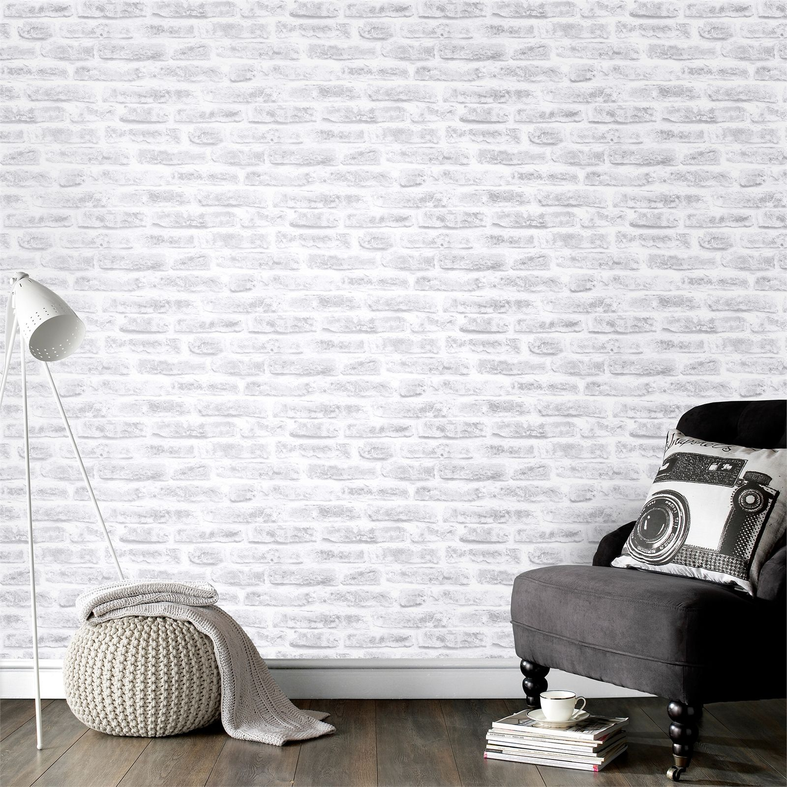 Find Graham &Amp Brown 52Cm X 10M Brick White Wallpaper