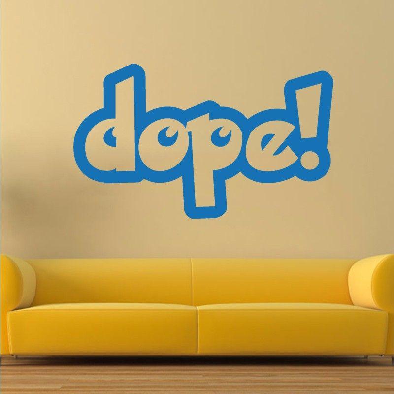 Hot Dope Humour Joke Prank Funny Wall Sticker Vinyl Decal Living ...