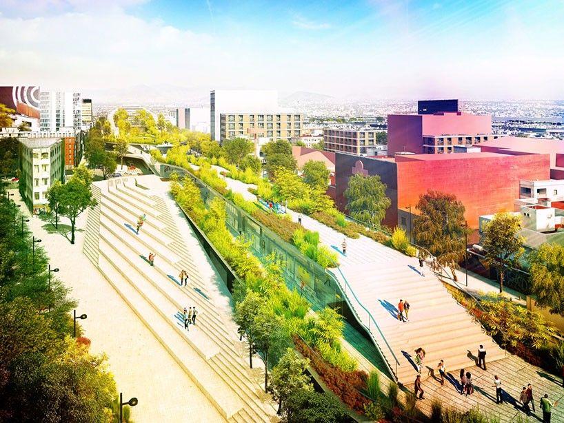 Un nuevo parque lineal para la ciudad de m xico proyectos 6 pinterest parques lineales - Jardines puente cultural ...