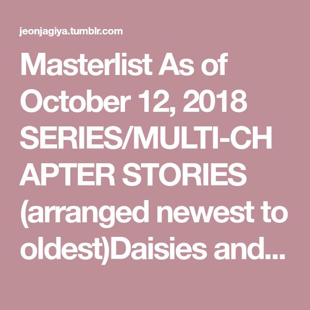 Masterlist   b   Namjoon, Daisy