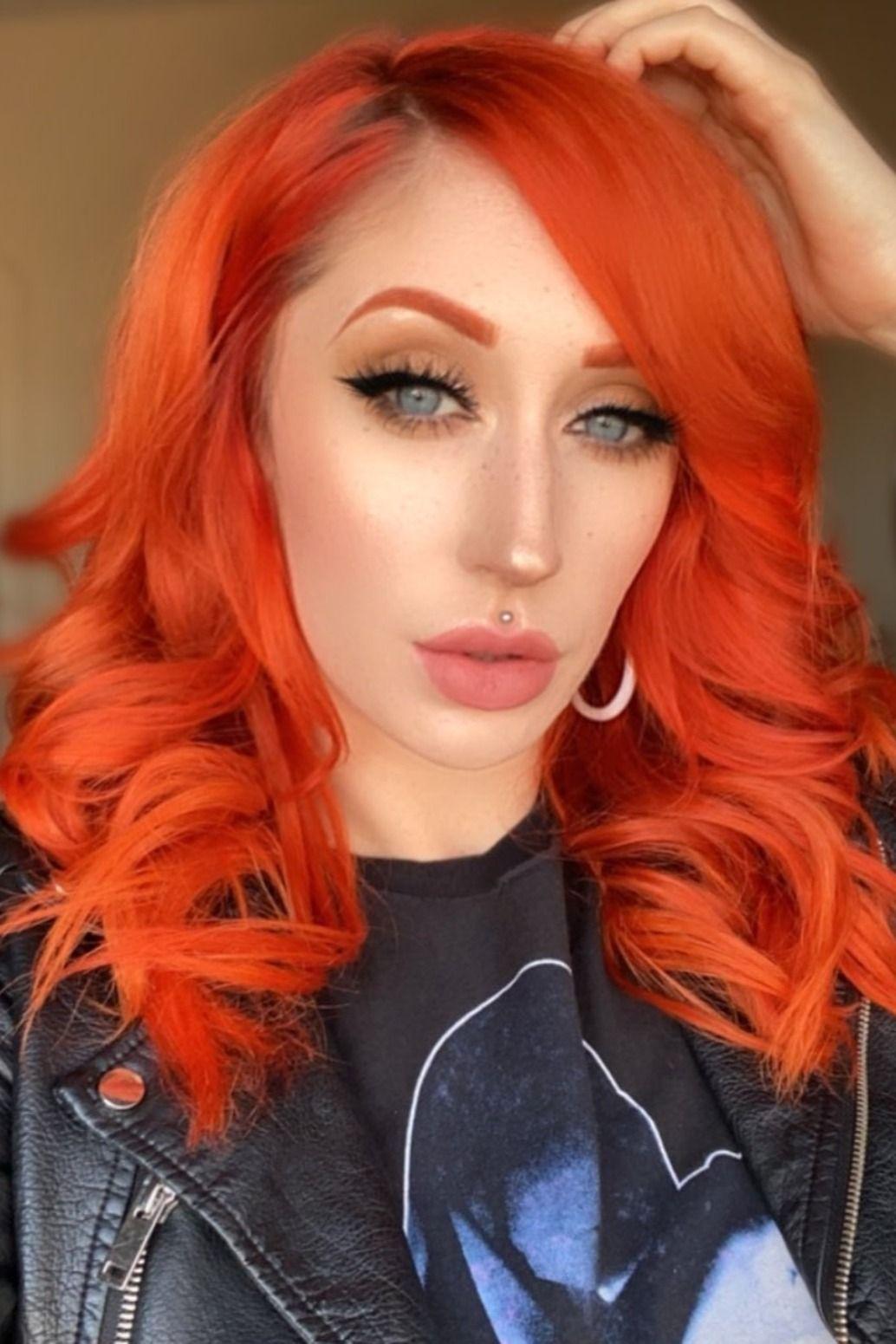 Sunset Orange In 2020 Short Red Hair Fox Hair Dye Brown Hair Dye