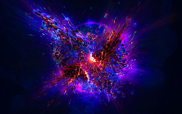 Télécharger fonds d'écran planète explosion, la planète de