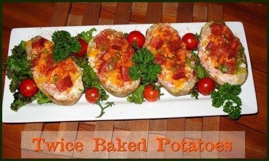 Twice Baked Potatoes http://www.momspantrykitchen.com/twice-baked-potatoes.html