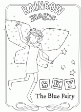 Rainbow Magic Coloring Page Blue Rainbow Magic Fairies Rainbow Magic Fairy Coloring Pages