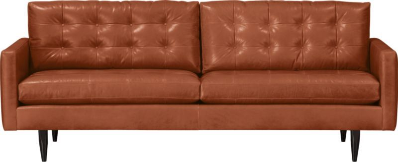 Amazing Petrie Leather 86 Sofa In Sofas Crate And Barrel Gmtry Best Dining Table And Chair Ideas Images Gmtryco