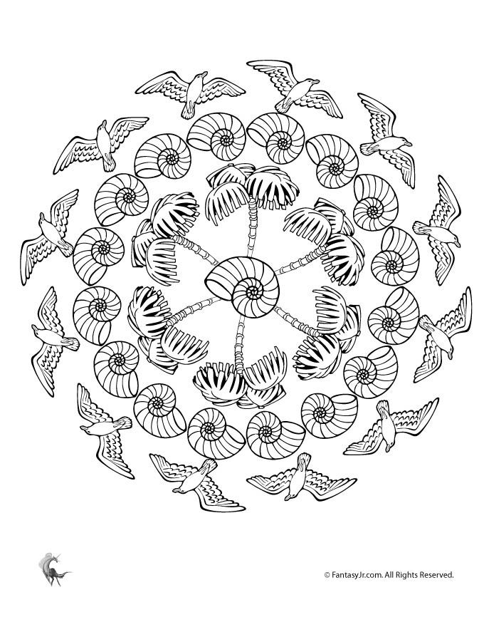 Free Summer Mandalas To Color And Print With Flowers Ice Cream Baseball Beach Butterfly Images