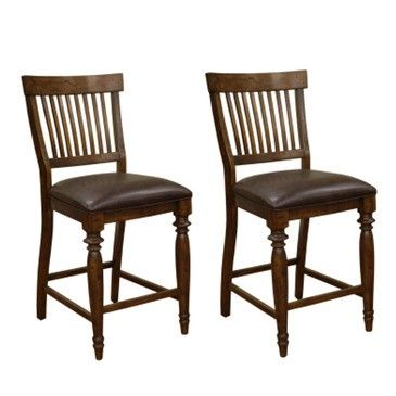 American Heritage Dining Chairs Delphina 25 In. Counter Stool In Antique  Birch (Set Of