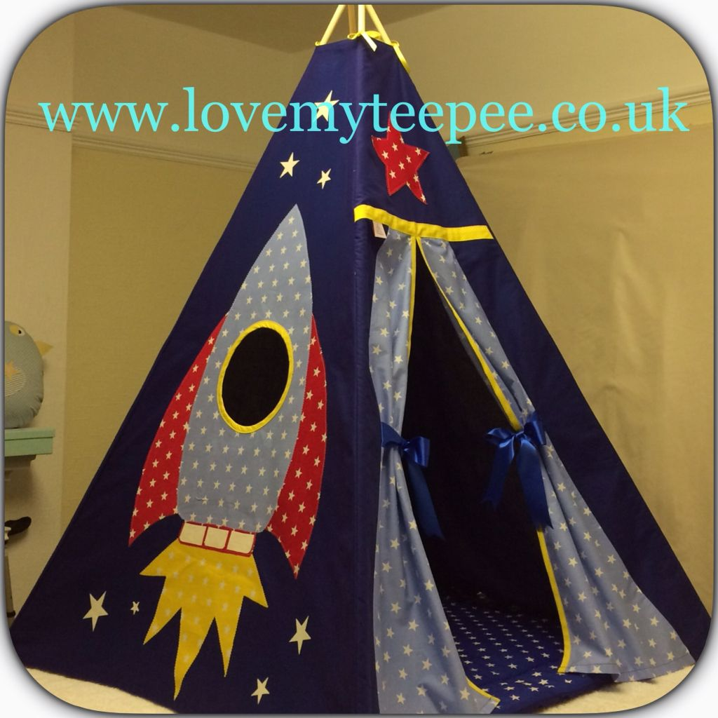 Love my teepee uku0027s leading handmade bespoke and personalised childrens teepee tents. & Boys Navy Blue Rocket Teepee Set | Peekaboo Teepees 0 - 12 ...