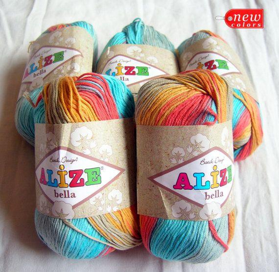 Pure Cotton Baby Yarn: Light Weight, Alize Bella Batik