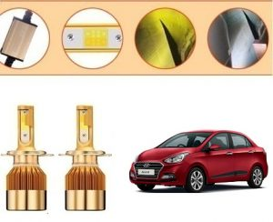 Hyundai Xcent New Car C6 Golden Dual Color Led Head Lights Price
