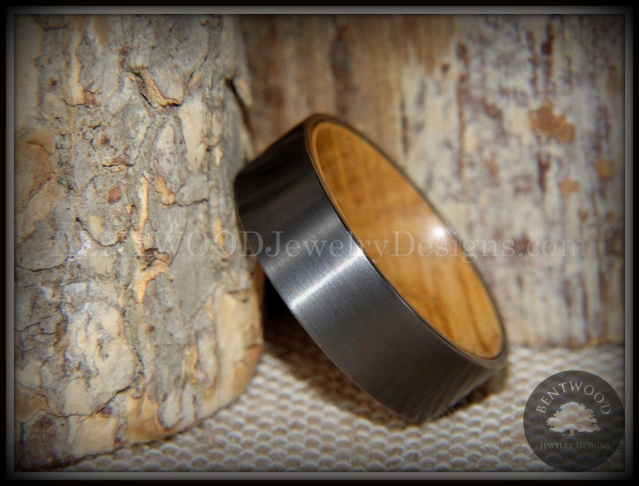 Avant garde wood ring Minimalist ring for men Bentwood ring Beach pebble ring Modern Gift Organic stone wood ring Terrarium ring Brown