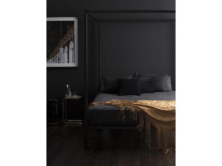 2.come-arredare-camera-da-letto-stile-minimal-parete-nera | For Home ...