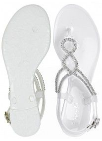 ae4db5f7b Diamante Jelly Sandals White