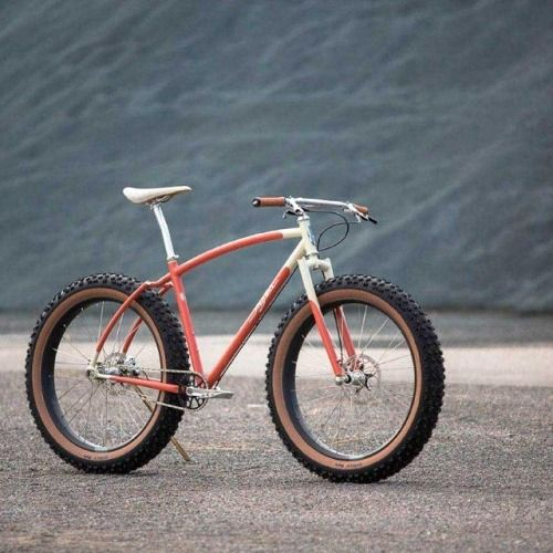 """Art Director Matt Larson's custom Inglis fat bike photographed in a gravel quarry near QBP headquarters. The bike was used to show off Whisky Parts Co's new No. 9 Carbon Tubeless 26"""" Fat Trail Rim."""
