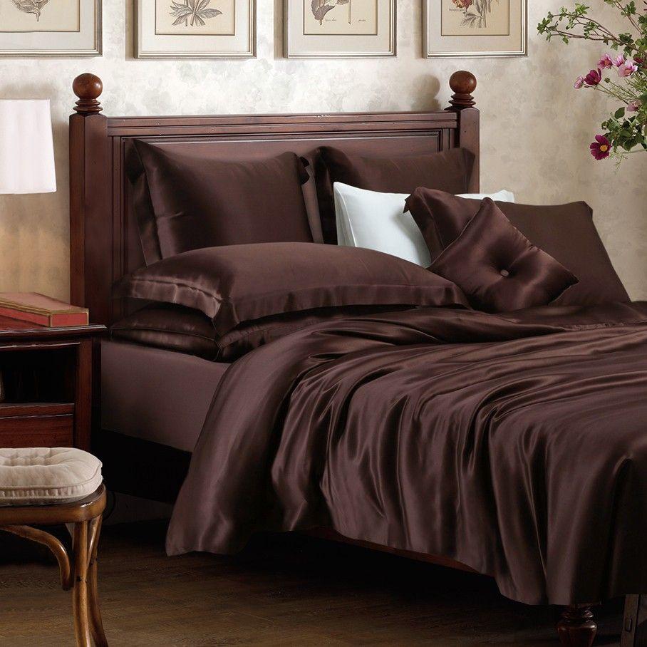 Espresso Silk Duvet Cover Luxury Duvet Covers Duvet Covers Duvet