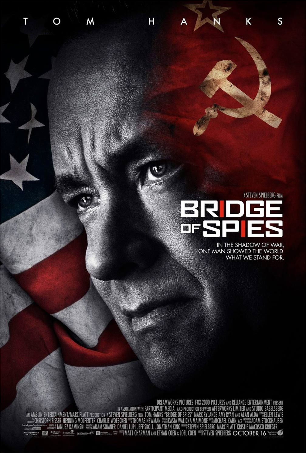 Bridge of Spies (2015): Awesome movie. My husband's favorite of 2015. The guy who played the Russian spy deserves an Oscar for Best Supporting Actor.