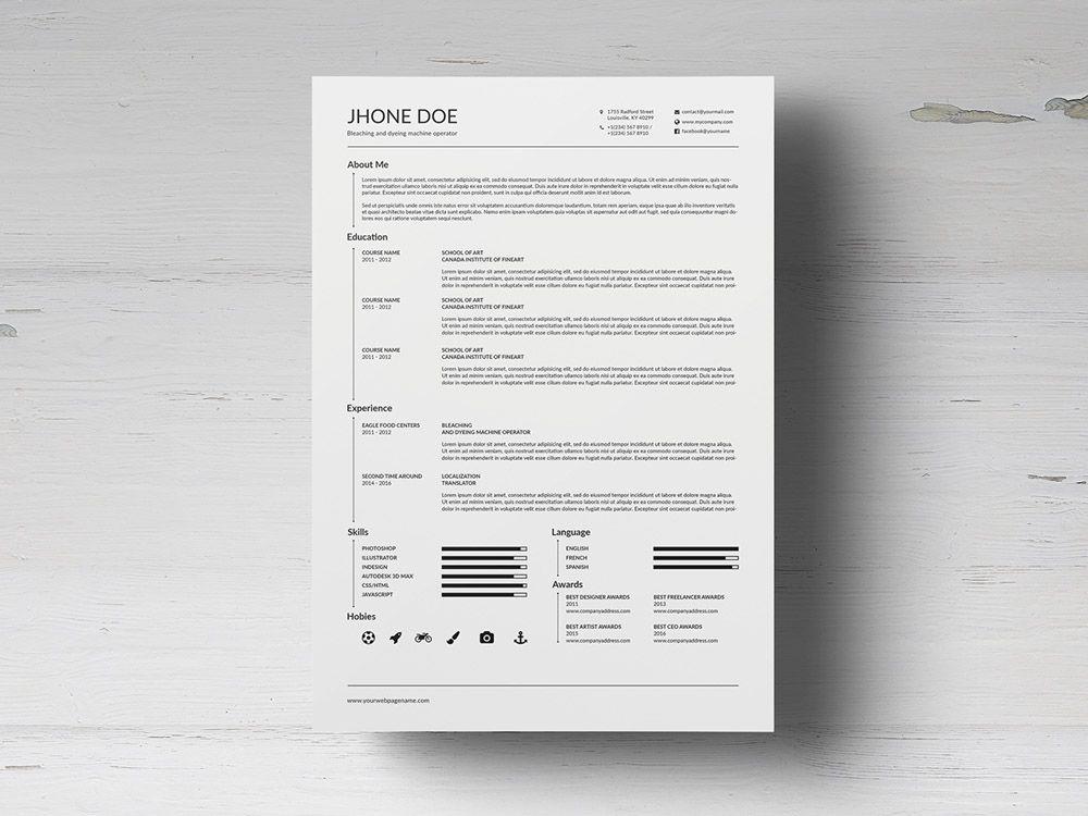 Free Minimalist Timeline Cv Resume With Elegant Design Resume