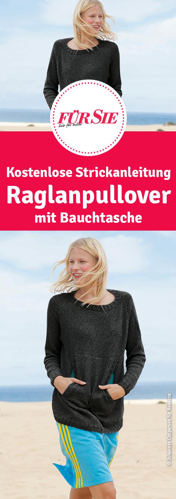 Photo of Weiter Raglanpullover mit Bauchtasche