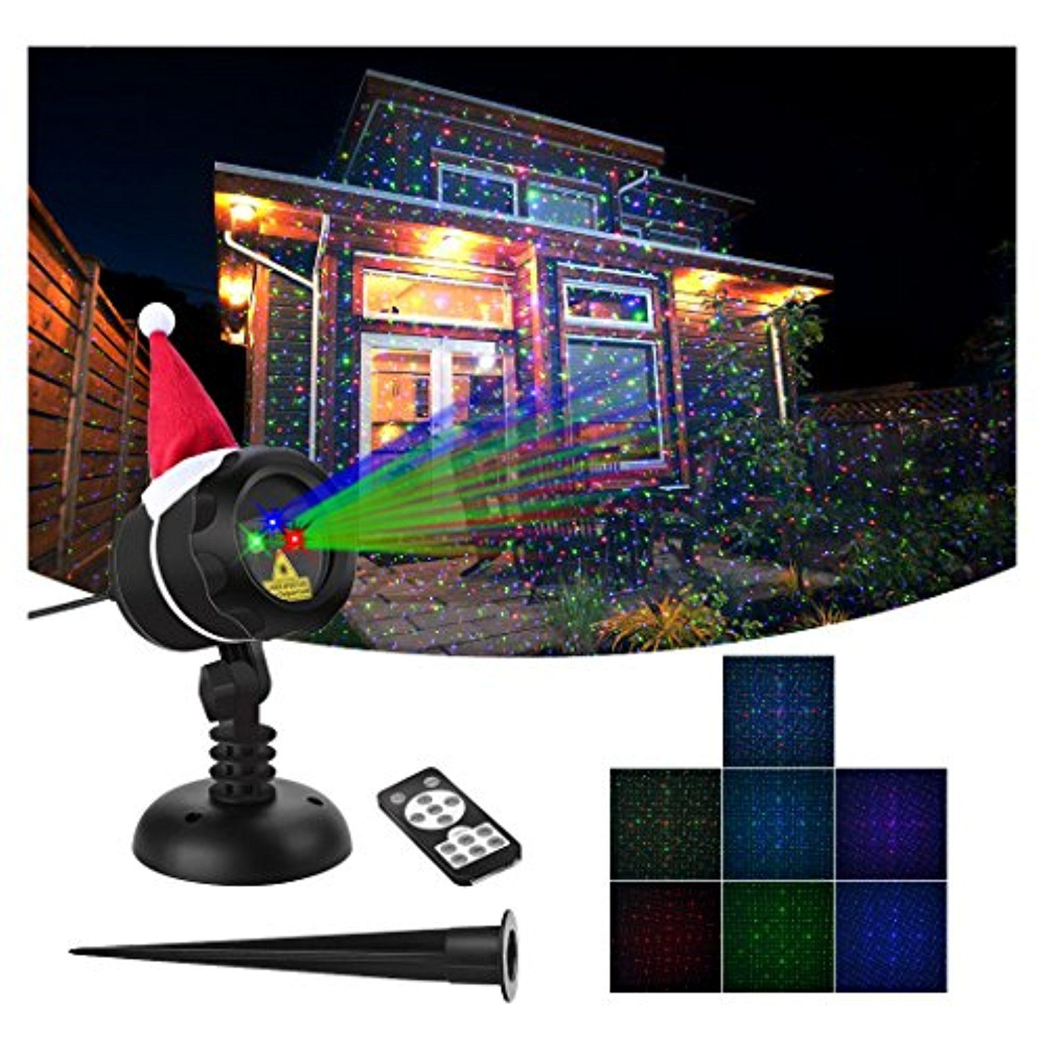 Verkb Christmas Laser Lights Red Green Blue Moving Stars Effect Wireless Remote Control Waterproof Projecto With Images Laser Lights Valentines Day Decorations Red Green