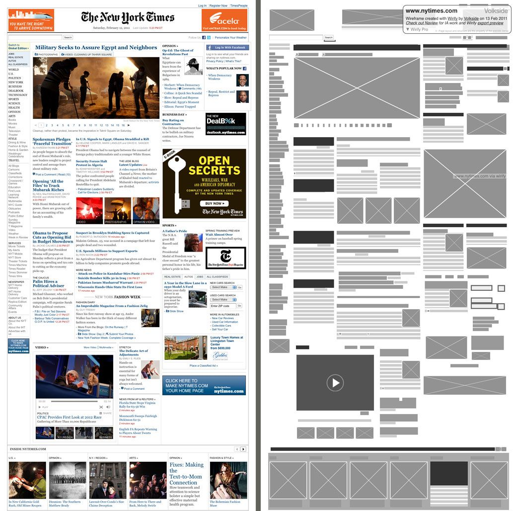 Overview And Why Use Wirify Wireframe Type Inspiration Grid Layouts