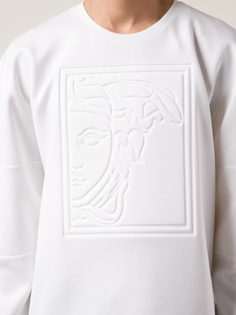 f070fa57 Versace Collection Embossed Medusa Sweatshirt - Profile - Farfetch.com Versace  Men, Versace Polo