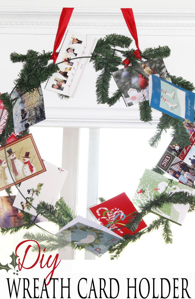 Holiday Wreath Card Display | ☆ Hometalk: DIY Christmas ...