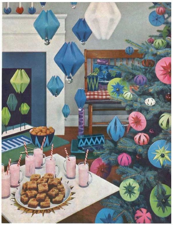 Mid Century Modern Paper Decorations Google Search
