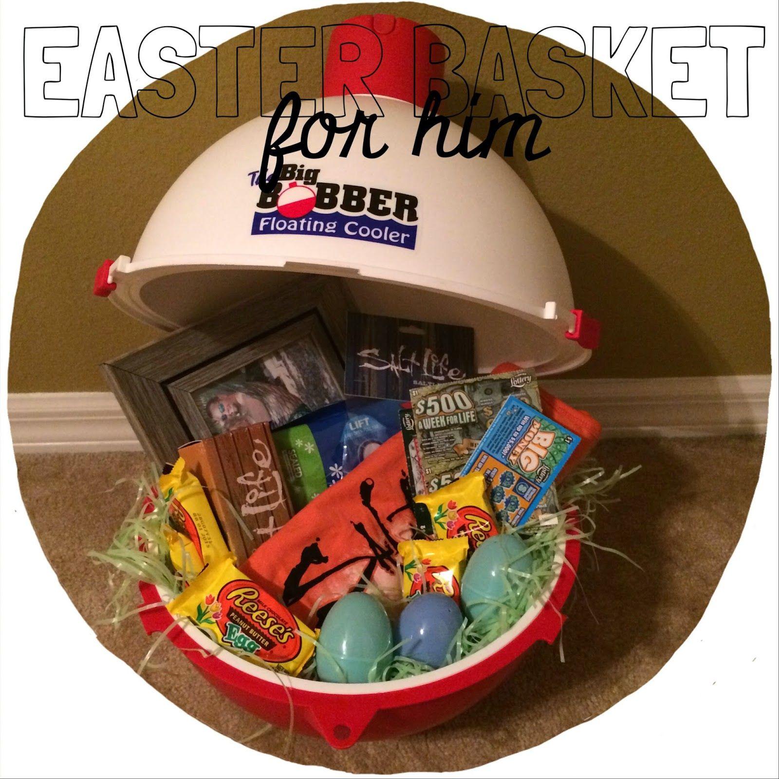 easter basket for him, man basket, fishing easter basket