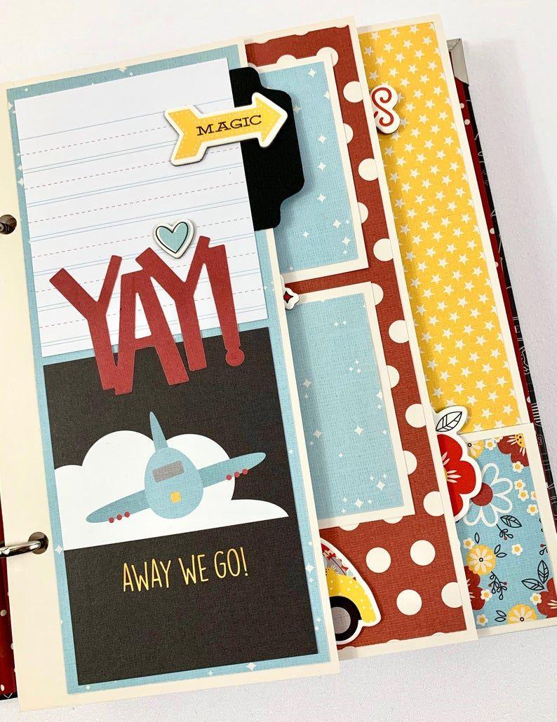 Disney Like Scrapbook Album Diy Kit Or Premade Vacation Mouse