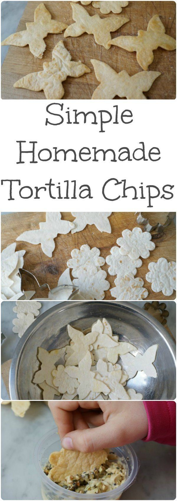 Bake a batch of super crispy homemade tortilla chips - a healthy after school snack treat that kids love. A simple family friendly recipe.