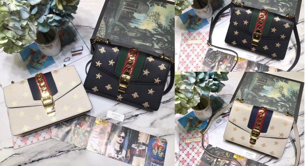 2e07e0f35 Gucci Sylvie Bee Star small shoulder bag 524405 | Luxury Handbags ...
