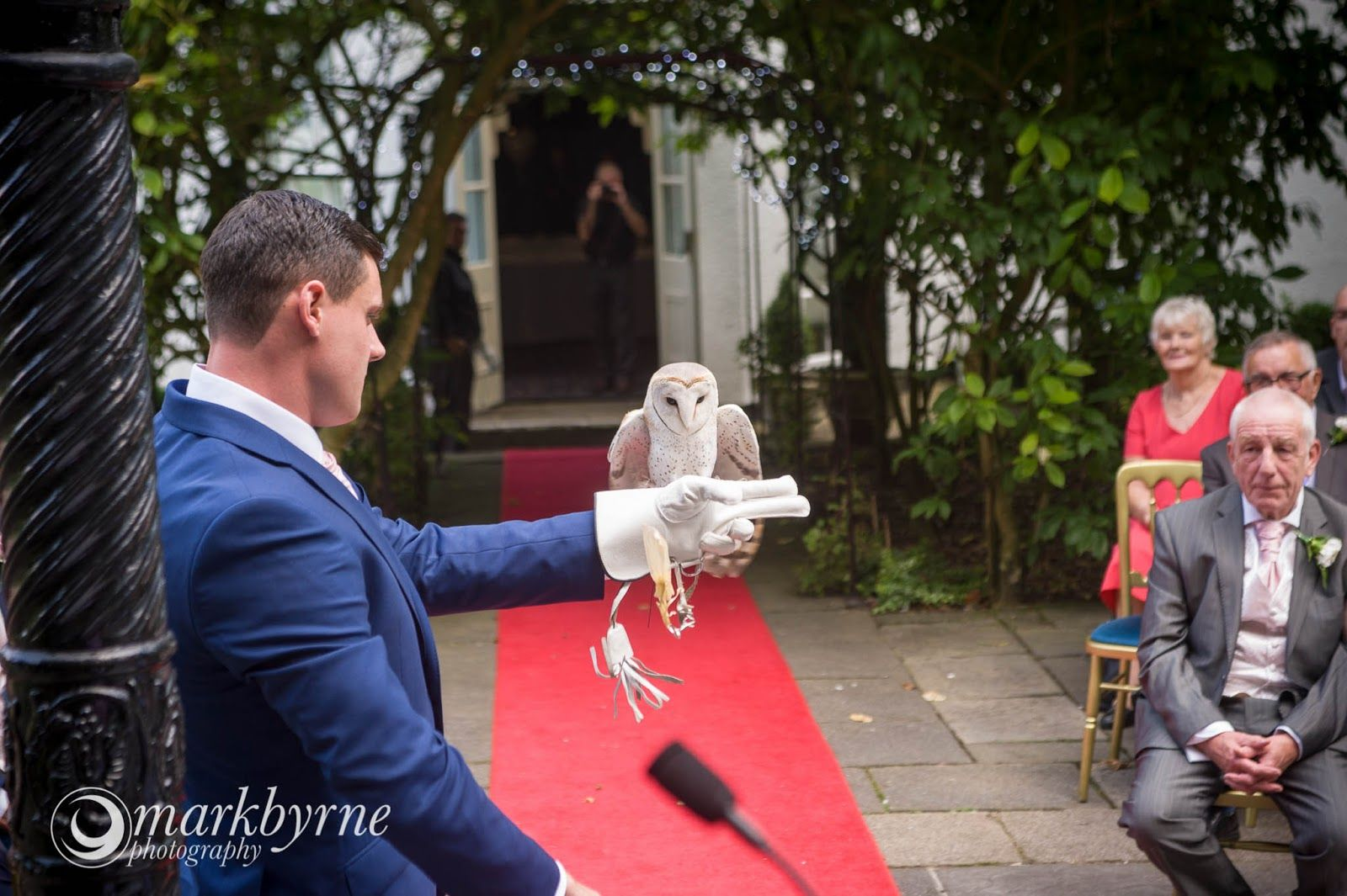 Statham Lodge wedding of Leanne and Jak including the super awesome delivery of wedding rings by an owl.