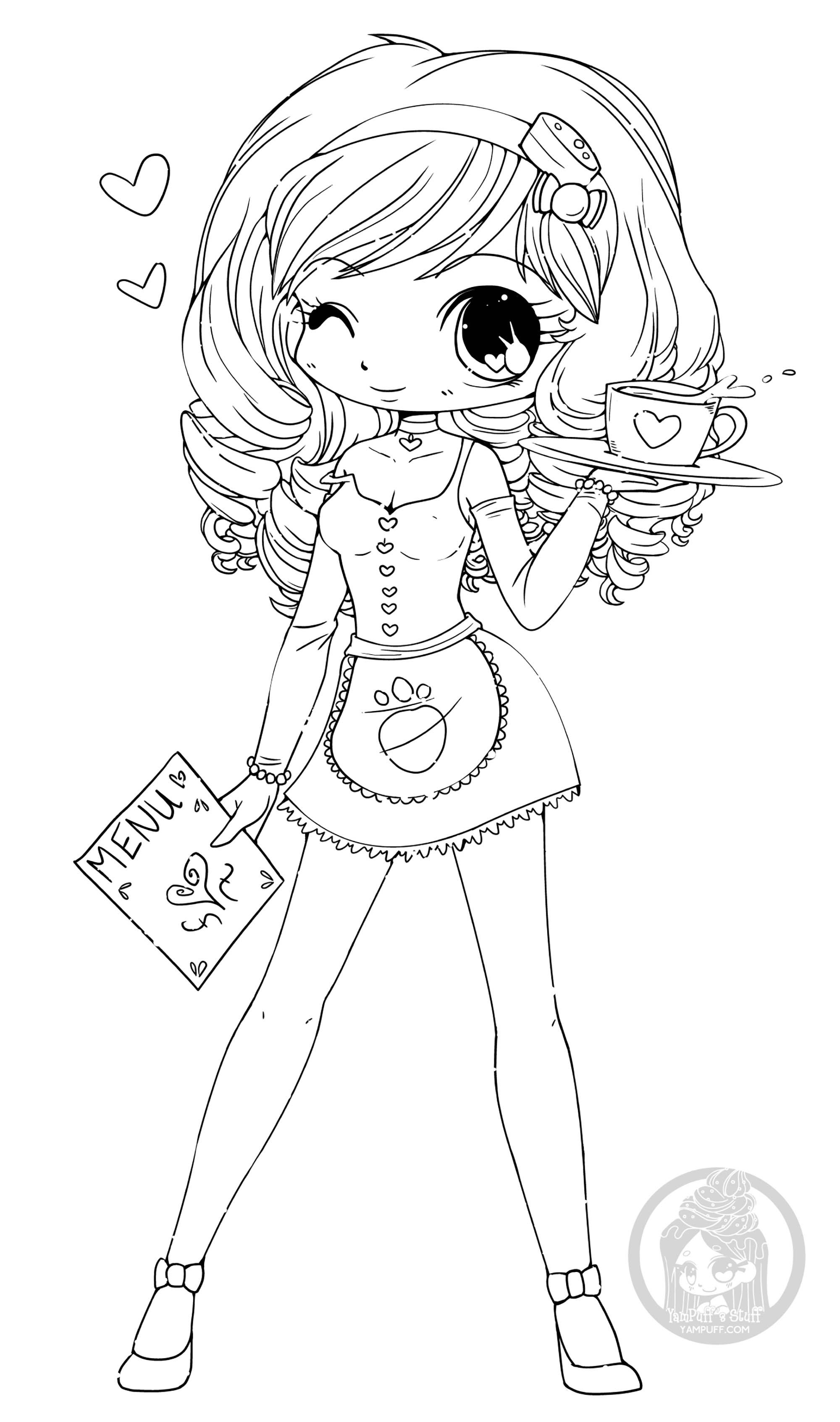 This Cute Girl Winks You To Make You Want To Color Her From The Gallery Back To Childhood Chibi Coloring Pages Cute Coloring Pages Coloring Pages