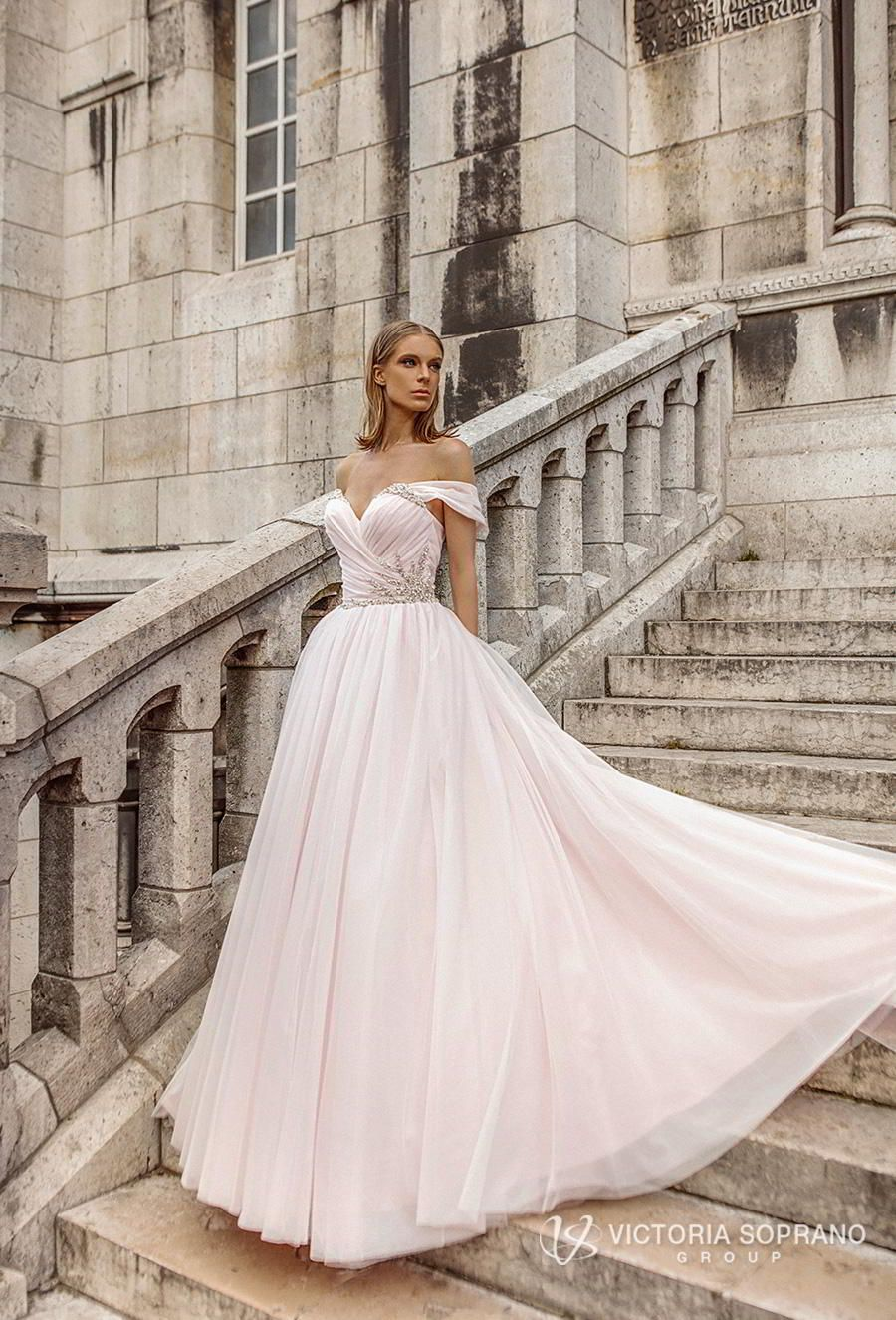 These Victoria Soprano Wedding Dresses Will Make You Swoon 2019 Love In Paris Bridal Collection Wedding Inspirasi Wedding Dresses Short Wedding Gowns Blush Wedding Gown