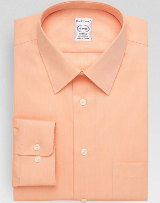 Pronto Uomo Peach Queen's Oxford Modern Fit Dress Shirt | men's ...