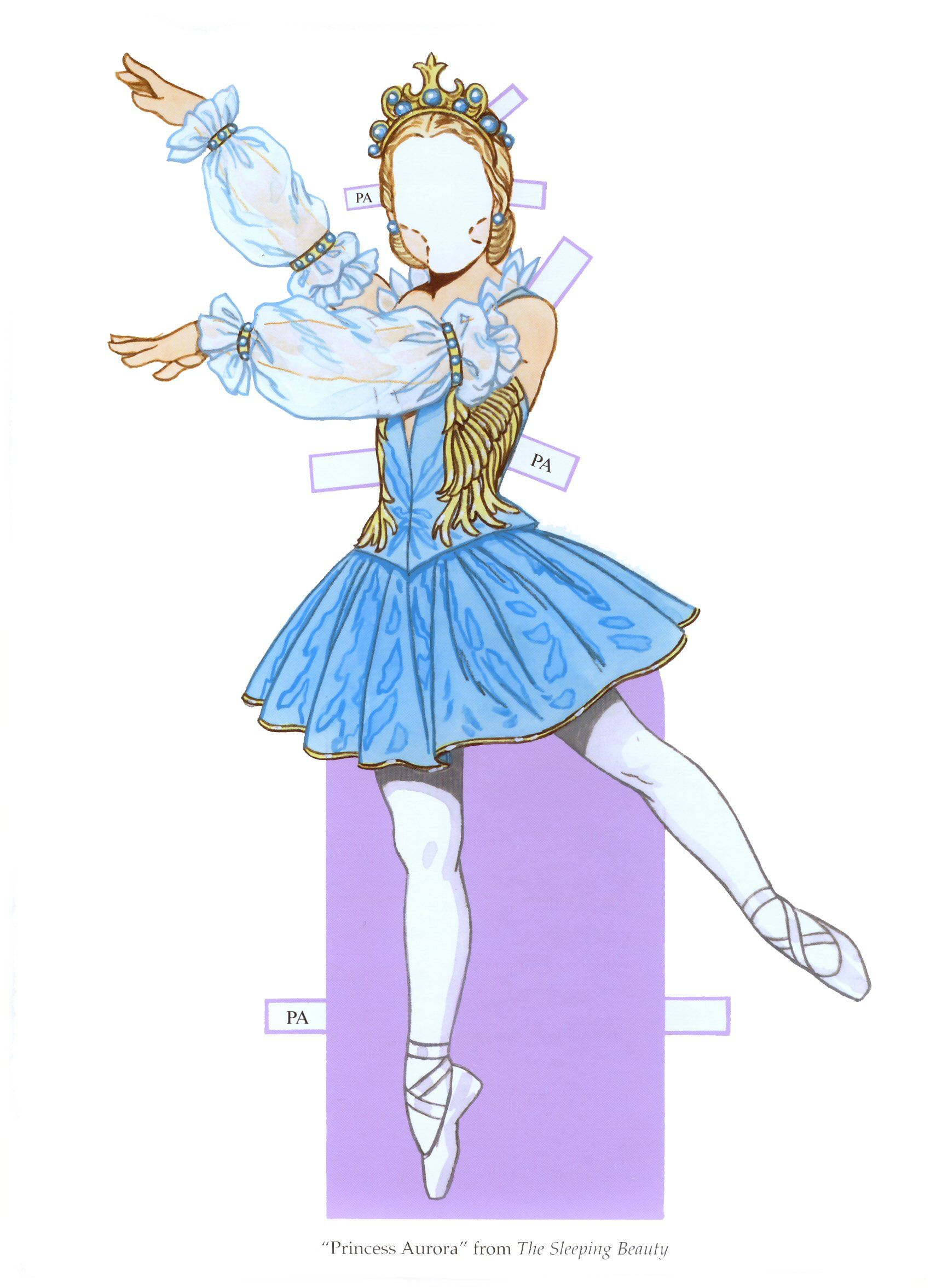 Tom tierney colonial fashions paper dolls -  Ballet Princesses Paper Doll By Tom Tierney Dover Publications 3 Of 8