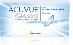 Acuvue Oasys Brand Contact Lenses With Hydraclear Plus