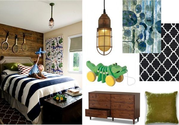 boy alligator room ideas | Get the Look: Classic boy's bedroom with a rustic twi… Young room