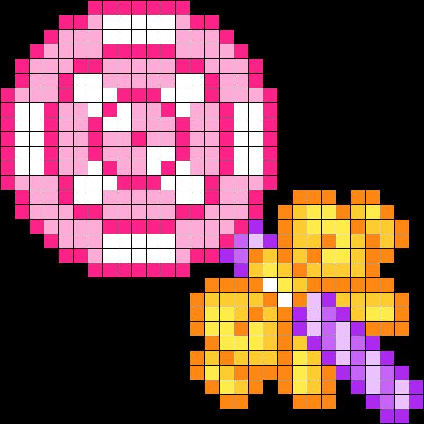 Lollipop Bead Pattern Perler Bead Art Pony Bead Patterns