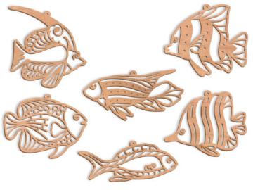 SLDK319 - Tropical Fish Filigree Ornaments